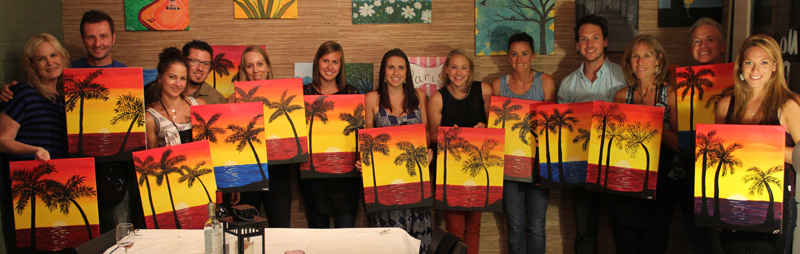 Step by step classes for Wine and painting mn